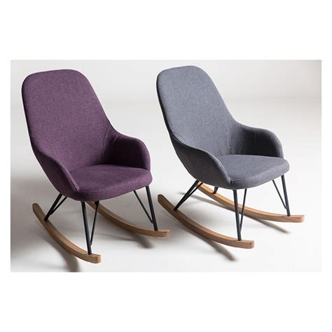 fauteuil 224 bascule 224 233 chelle enfant en tissu gris ou mauve depot design