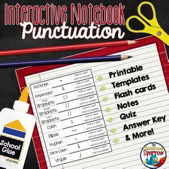 Advanced Punctuation Interactive Notebook  High School English  Pinterest Interactive