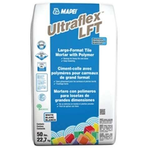 mapei ultraflex lft large format tile white mortar 50lb 100050020 floor and decor