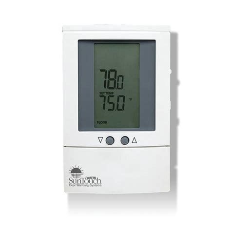 shop watts suntouch dual voltage programmable thermostat