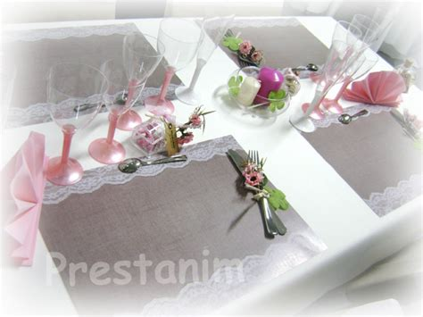 prestanim 187 set de table romantique