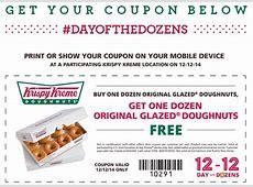 Krispy Kreme Offers Day of the Dozens on December 12