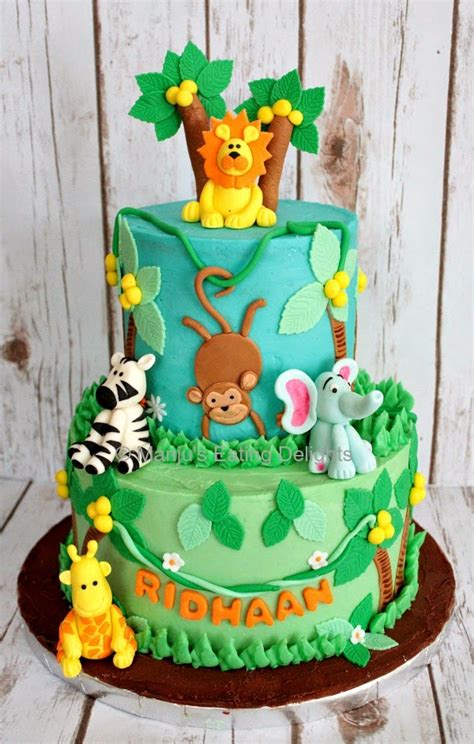 jungle theme cake manju s delights jungle animals themed cake