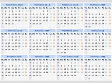 Kalenteri 2018 2019 2018 Calendar Printable with