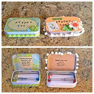 Altoid tin turned into a prayer box! | CrAFTing and Giving ...
