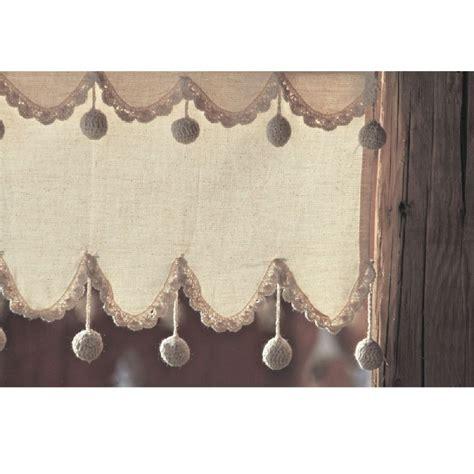 rideau brise bise coton naturel vague 3 rang 233 es de pompons les sculpteurs du lac