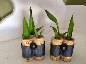 Deko Zum Selber Machen : diy cork planters kreative bastelideen mit korken freshouse ~ Markanthonyermac.com Haus und Dekorationen