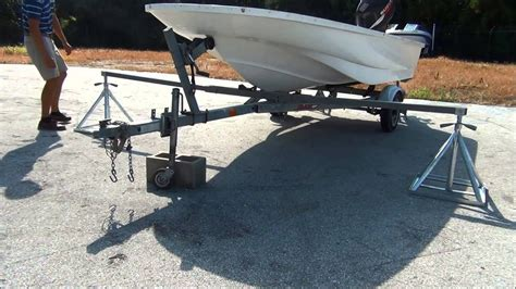 How To Lift A Boat Off The Trailer To Paint by Scaffoldmart S Boat Lift Trailer Removal System Youtube