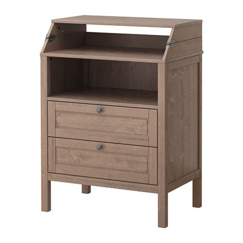 ikea nyvoll dresser light grey sundvik changing table chest of drawers grey brown ikea