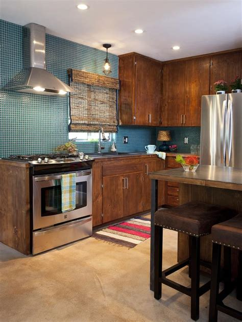 blue contemporary kitchen hgtv