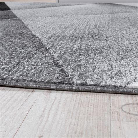 tapis design moderne motifs g 233 om 233 triques poils ras gris noir blanc chin 233 tous les produits