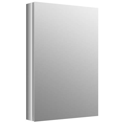 kohler verdera 30 in x 20 in recessed medicine cabinet in anodized aluminum k 99002 na the
