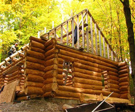 construction de chalets en bois rond