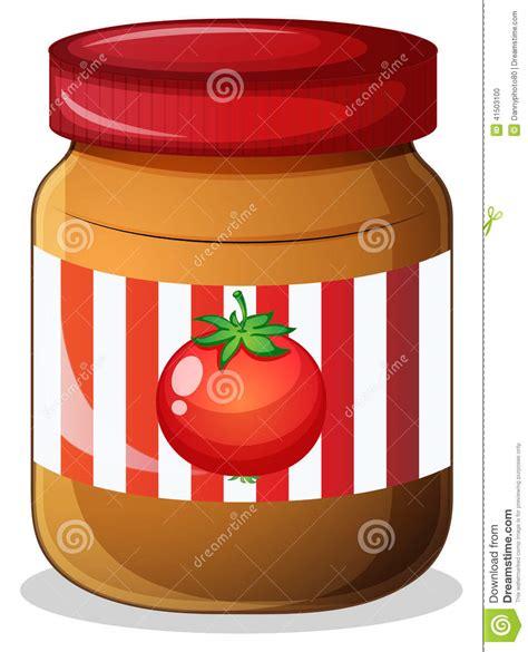 un pot de confiture de tomate illustration de vecteur image 41503100