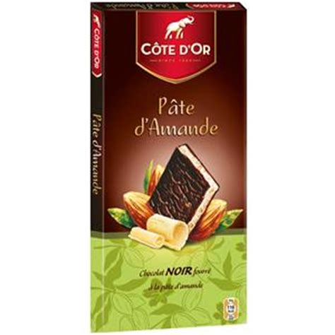 cote d or tablette chocolat noir fourre pate d amandes 150 g
