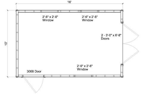 10x16 shed floor plans bavaya 10 x 16 building plans