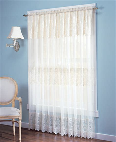 no 918 lace curtain panel with attached valance collection curtains drapes macy s