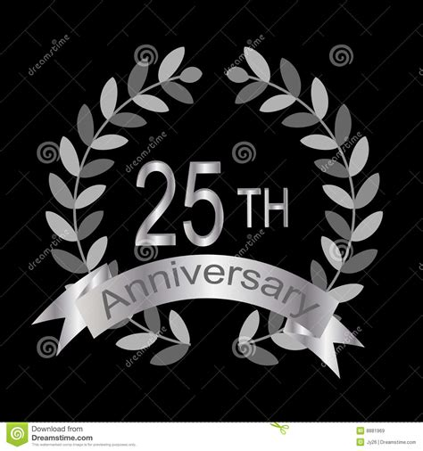 25th Anniversary (vector) Royalty Free Stock Images  Image 8881969