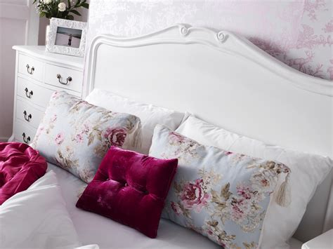 Juliette Shabby Chic White Double Bed, Stunning Wooden Headboard 4ft6 Bed Base 5060346450629 Antique Mirrors Images Silver Bathroom Lighting English And French Country Antiques Cast Iron Beds Melbourne Model Boats Kitchen Sink Uk Wooden Yachts Tonka Toy Fire Trucks