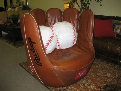 custom baseball glove chair yelp