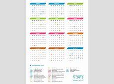 Календарь 2019 с праздниками и выходными днями