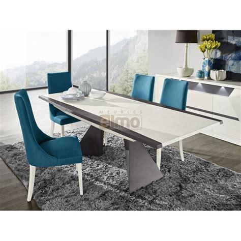 table salle 224 manger contemporaine extensible laque et bois diamant