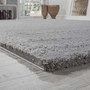 Teppich Wohnzimmer Grau : shaggy teppich micro polyester wohnzimmer teppiche elegant hochflor grau wohn und schlafbereich ~ Markanthonyermac.com Haus und Dekorationen