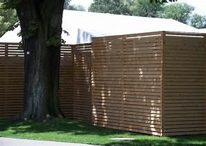 Trennwand Dachschräge Selber Bauen : einfacher sichtschutz trennwand aus holz horizontal strukturiert eigenbau leicht m glich ~ Markanthonyermac.com Haus und Dekorationen