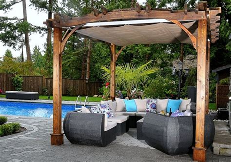 custom size pergola retractable canopy kit outdoor living today