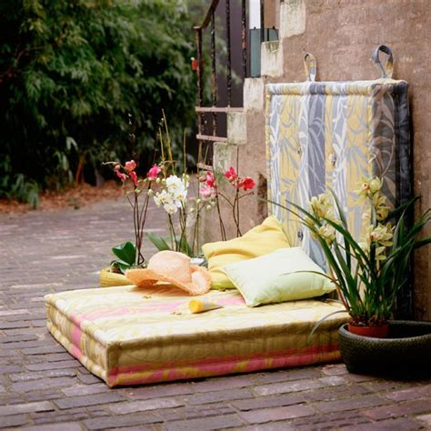 garden ideas garden furniture floor cushions alfresco entertaining housetohome co uk