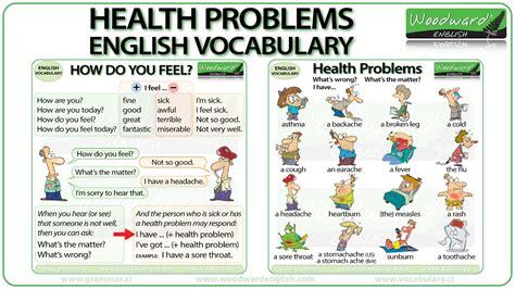 Health Problems  English Vocabulary Youtube