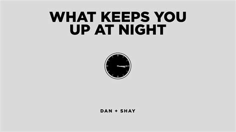 What Keeps You Up At Night (official Audio