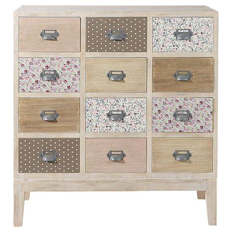 cabinet commode 12 tiroirs en bois l 75 cm pimprenelle maisons du monde