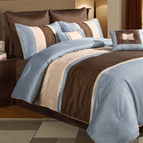 maxwell blue brown 8 comforter set modern comforters and comforter sets by wayfair