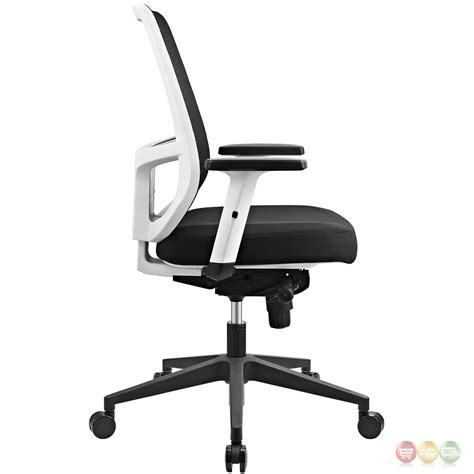 ergonomic mesh back office chair w white frame lumbar support black