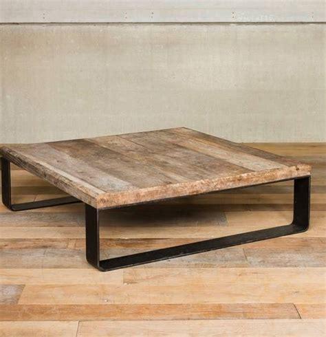 chehoma table basse en mtal et bois chehoma