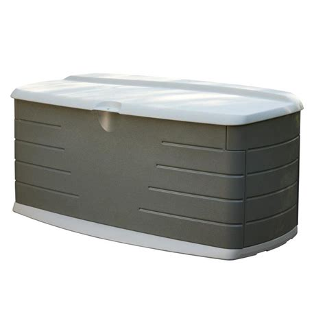 Rubbermaid Deck Box Home Depot by Shop Rubbermaid 26 In L X 56 In W 90 Gallon Olive