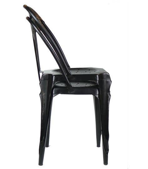 chaise style industriel en m 233 tal vintage noir wadiga