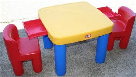 tikes activity table with drawers and 2 tikes chairs