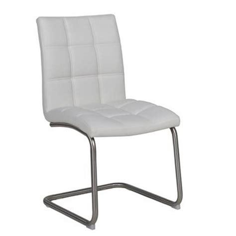 chaise cuir blanc le monde de l 233 a