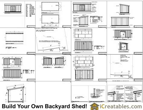 10x20 lean to shed plans icreatables