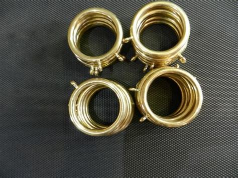 Plastic Gold Coloured Round Curtain Rings With Eye Hooks Was Sold For R45 Aluminium Chain Insect Door Fly Screen Curtain Shower Made Bamboo Allen Roth 2 Pack Cocoa Wood Rod Brackets What Color Curtains Go With Grey Walls And Brown Furniture Putting Up Track Bay Window How To Add Blinds Do You Sew A Vivan 1 Pair White