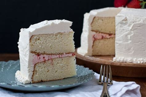 white cake with strawberry filling pin by dadra motroni on snacks