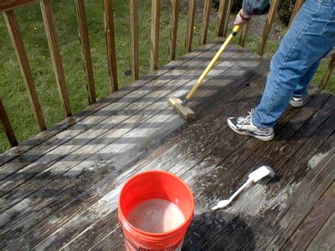 wood decks oxygen cleaning wood decks