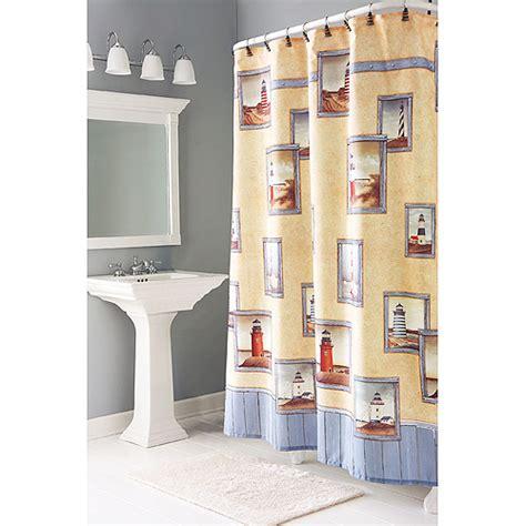 Lighthouse Bathroom Decor Walmart by Painterly Lighthouse Shower Curtains Bath Walmart