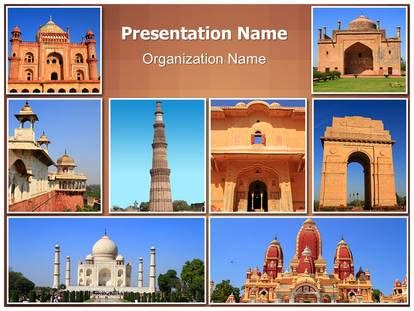 Travel Collage Templates by India Travel Collage Powerpoint Template Background