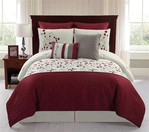 8 embroidered comforter set