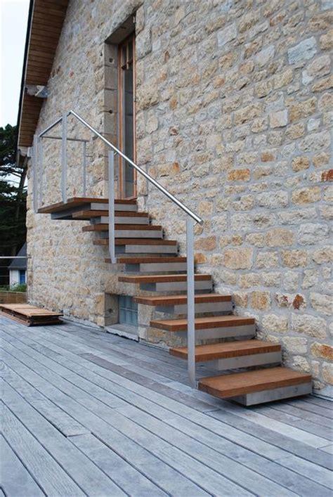 escaliers d ext 233 rieur bois alu acier res c 244 t 233 maison