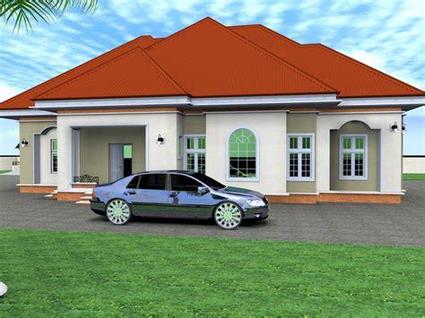 Bedrooms Bungalow Floor Plans At Nigeria-home Combo