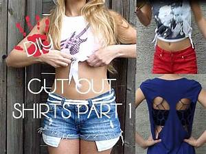 Aus Alt Mach Neu Kleidung Vorher Nachher : diy cut out top shirts part 1 aus alt mach neu youtube ~ Markanthonyermac.com Haus und Dekorationen